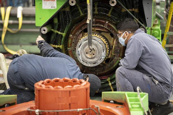 generator shaft repair
