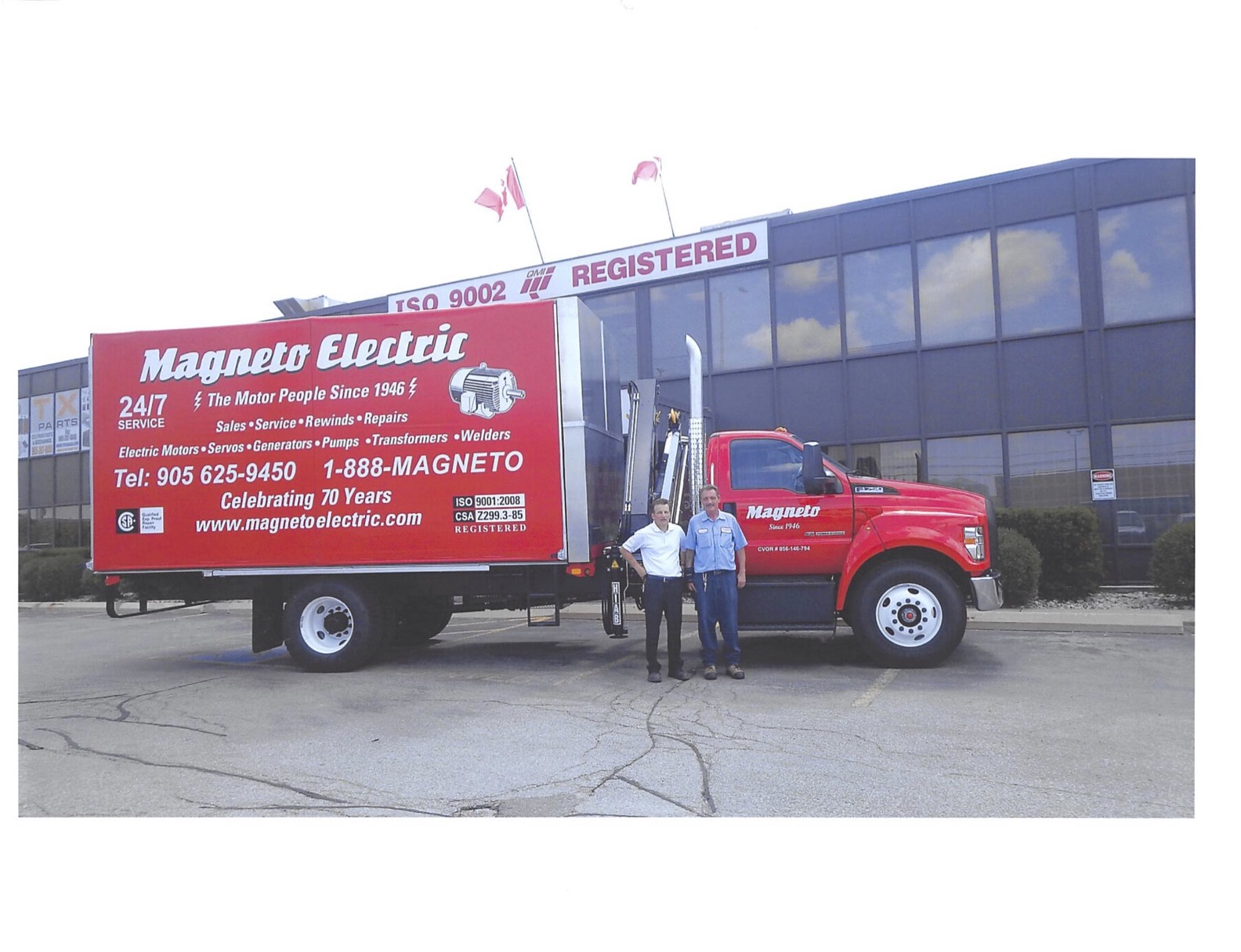 Magneto Electric delivery truck
